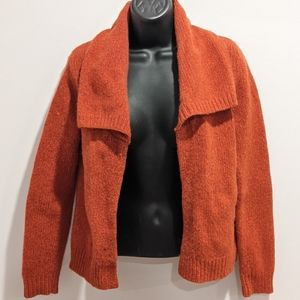 Mercer & Madison lambswool orange cardigan small